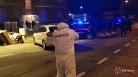 Torino, la polizia scientifica sul luogo della tragedia
