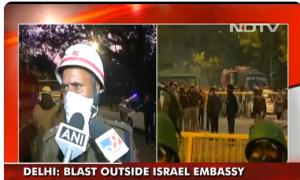 India, esplode ordigno vicino all'ambasciata israeliana di Nuova Delhi