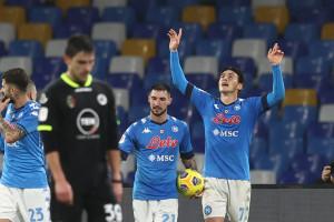 Eljif Elmas Napoli esultanza dopo il gol 4-0