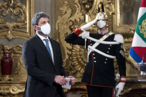 Crisi di governo, dichiarazioni di Roberto Fico al termine delle consultazioni