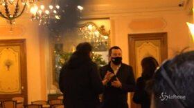 Salvini e Giorgetti al bar