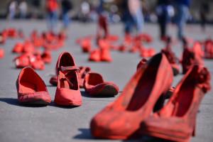 Protesta contro i femminicidi in Messico