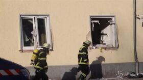 Esplode tubo di gas vicino a un palazzo a Memmingen