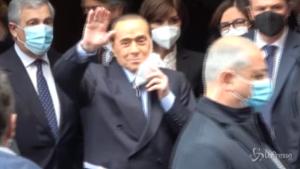 Berlusconi arriva alla Camera