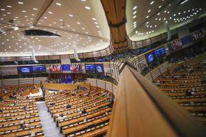 Brexit, la Presidente della Commissione europea Ursula von der Leyen al Parlamento europeo a Bruxelles