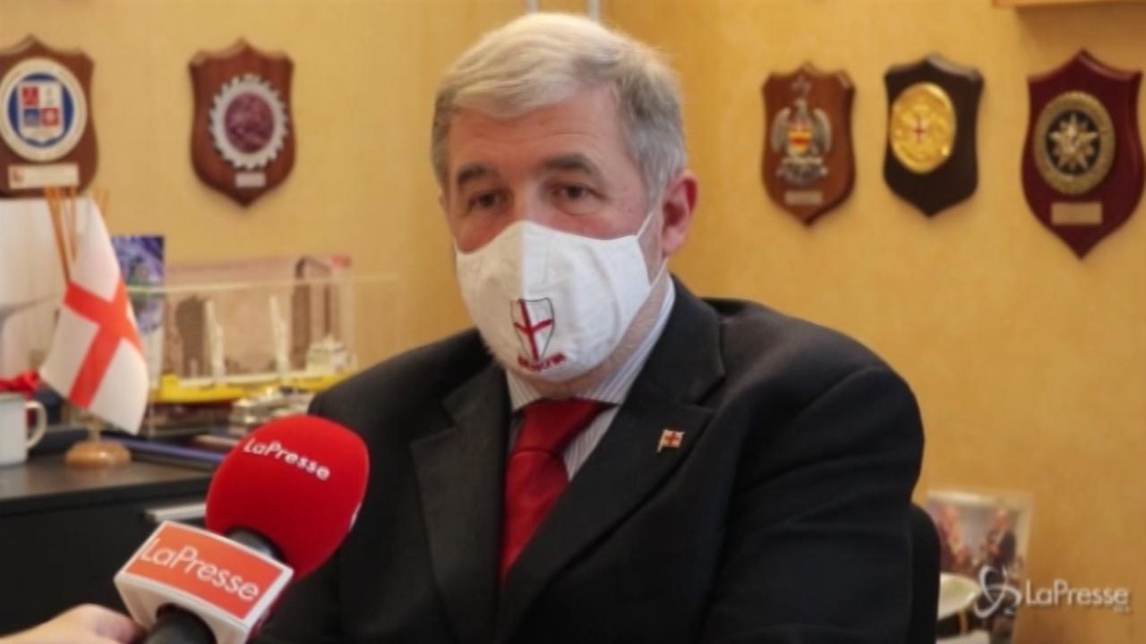 Il sindaco di Genova Marco Bucci