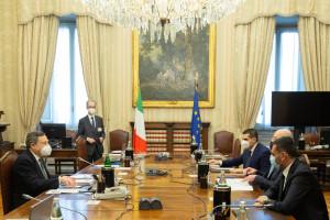 Consultazioni del presidente del Consiglio incaricato Mario Draghi