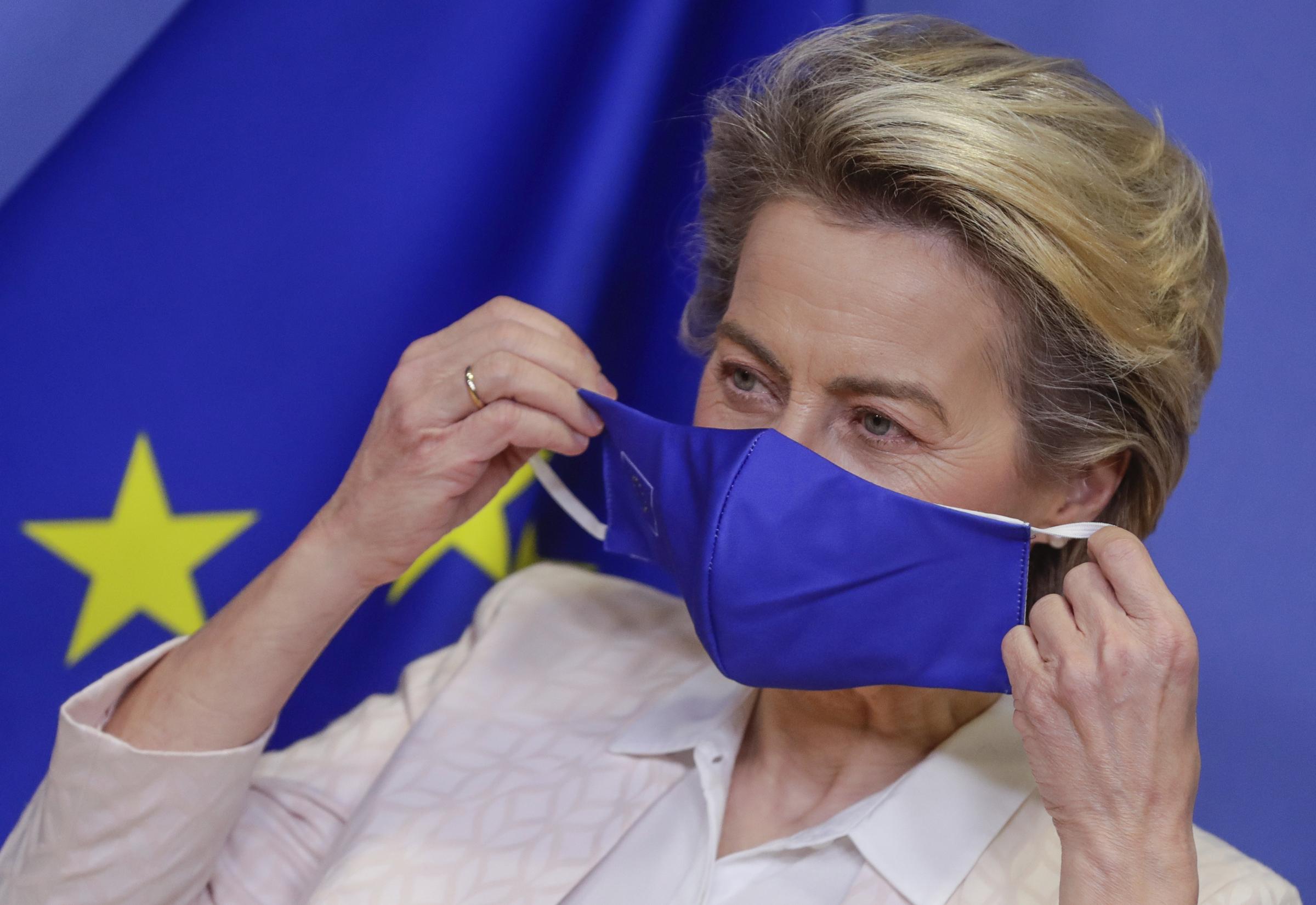 La presidente della Commissione Ursula von der Leyen