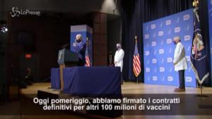 Vaccini, Biden