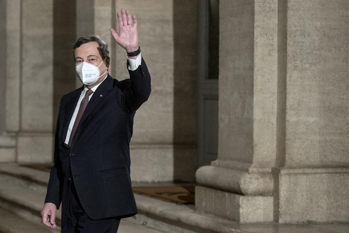 Quirinale - Mario Draghi scioglie la riserva e presenta la lista dei ministri