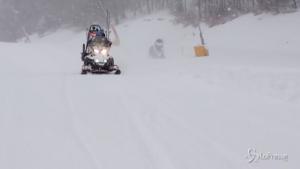 Nevica in tutto l'Abruzzo