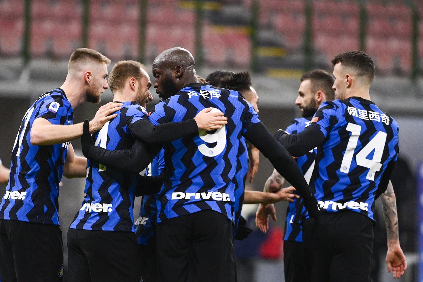 Romelu Lukaku (FC Internazionale Milano); esulta dopo il gol 1-0