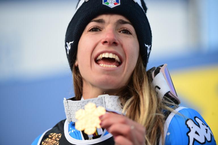 Marta Bassino, medaglia oro. Cortina d'Ampezzo