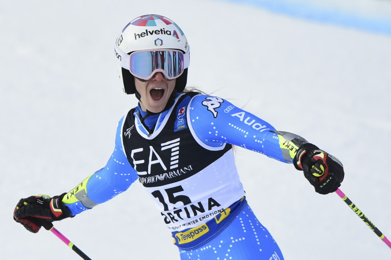 Marta Bassino, medaglia oro. Slalom parallelo