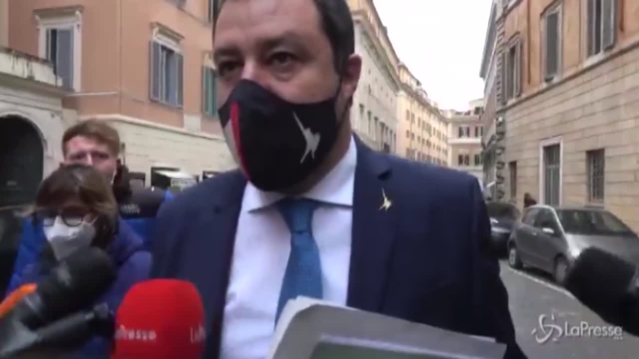 Matteo Salvini ai microfoni di LaPresse