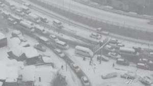Bufera di neve a Istanbul