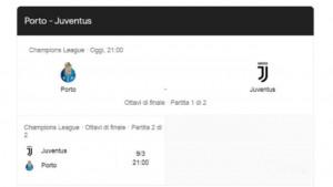 Champions, ottavi al via per la Juve a Porto