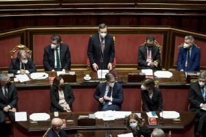 Senato - Voto di fiducia su governo Draghi