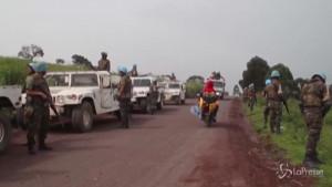 Caschi blu dell'Onu sulla scena del crimine in Congo