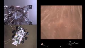 Primo video dell'atterraggio del rover Perseverance su Marte