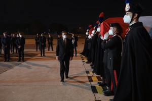 Ciampino, rimpatrio salme dell'Ambasciatore Attanasio e del Carabiniere Iacovacci