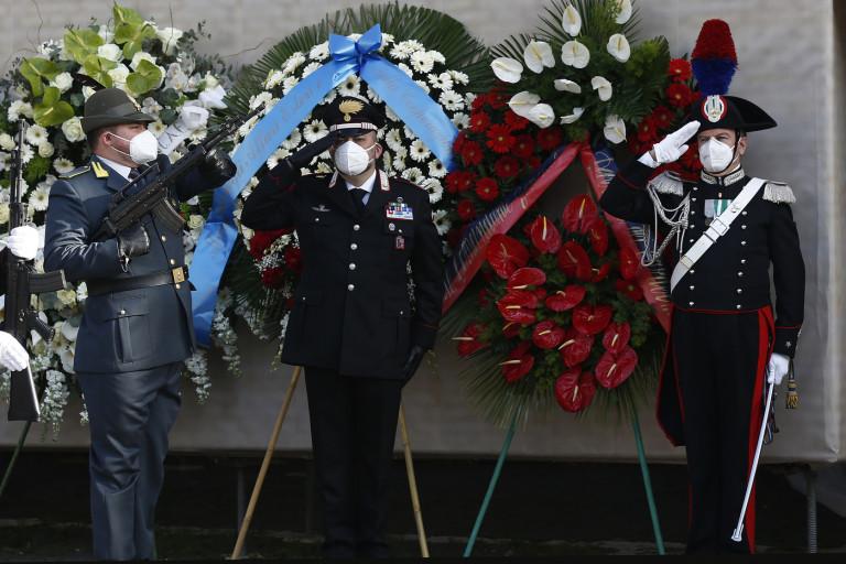 Attacco Congo: Funerali di stato per Attanasio e Iacovacci - Mario Draghi arriva in basilica