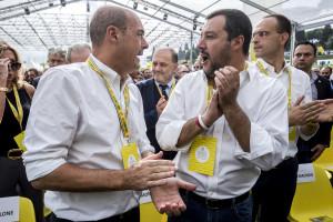 Matteo Salvini all'inaugurazione del Villaggio Coldiretti
