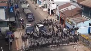 Repressione contro i manifestanti