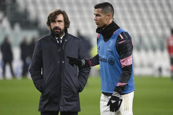 Andrea Pirlo e Cristiano Ronaldo