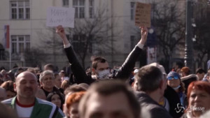 Manifestazione contro il lockdown a Budapest