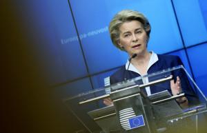 Ursula von der Leyen, riunione del Consiglio Europeo in videoconferenza