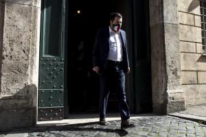 Punto stampa di matteo Salvini e i nuovi sottosegretari della Lega