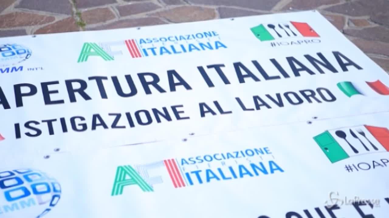 A Sanremo la protesta degli esercenti