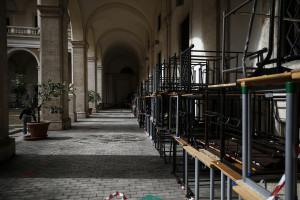 La protesta autogestita al liceo Visconti