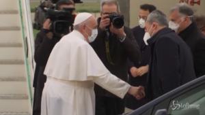 Papa Francesco partito da Fiumicino per Baghdad