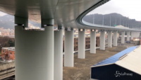 Nuovo ponte Morandi tra luci e tecnologia