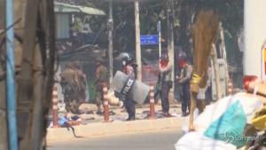 Barricate a Yangon
