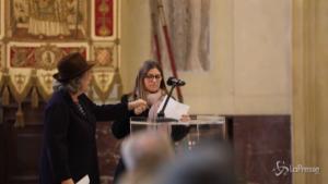 Funerali Tognoli, la figlia Anna