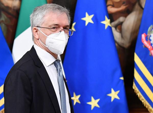 Il nuovo primo ministro Mario Draghi tiene il primo Consiglio dei Ministri a Palazzo Chigi