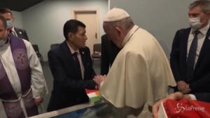 il Papa incontra il padre di Alan Kurdi