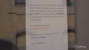 un anno fa la pandemia chiude l'Italia