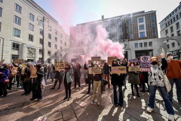 Flash mob movimento femminista