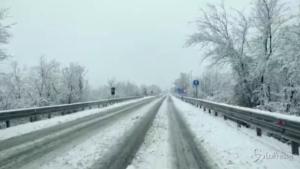 Neve di marzo in provincia dell'Aquila