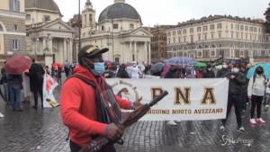 Protesta delle associazioni sportive a Roma