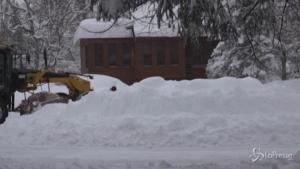 Anchorage ricoperta da 45 cm di neve