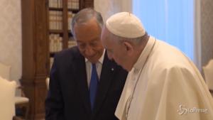 Papa riceve Rebelo de Sousa