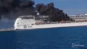 fiamme a bordo di una nave di MSC Crociere