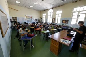 Roma, primo giorno di scuola dopo il Covid 19