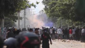 scontri in proteste contro golpe
