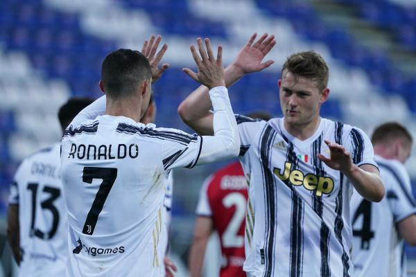 Esultanza di Cristiano Ronaldo. Cagliari vs Juventus - Serie A TIM 2020/2021